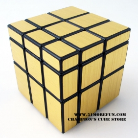 ShengShou Mirror Cube black with golden stickers