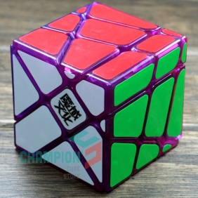 MoYu crazy Fisher cube transparent purple