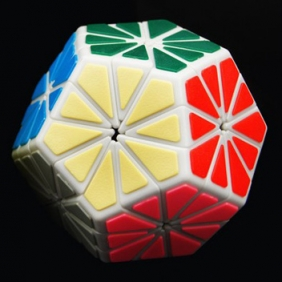 QJ tiled Pyraminx Crystal white