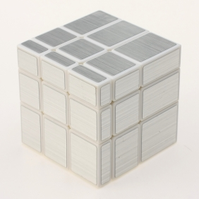 YuXin Mirror Cube white with silver wire-drawing stickers