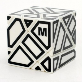 Ninja 3x3 Ghost Cube White  with M stickers