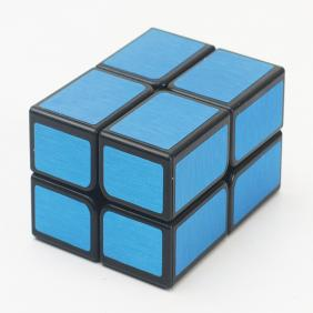 HelloCube Flat 2x2 black body with blue stickers