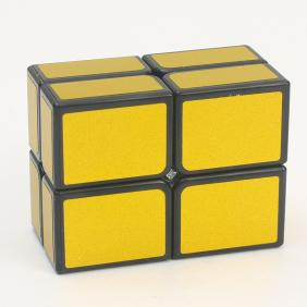 HelloCube Flat 2x2 Black Body with Golden Stickers