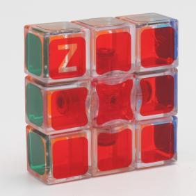 Z-Cube 1*3*3 Cube  Transparent Red
