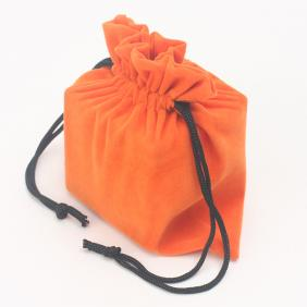 Middle-size Velvet Cube-bag