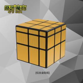 Qiyi 3x3 Mirror cube with golden stickers