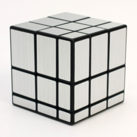 Qiyi 3x3 Mirror cube with silver stickers