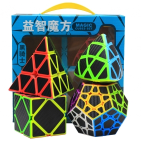 Z-CUBE Abnormal Shaped Magic Cube Set with Carbon Fibre Sticker