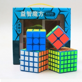Z-CUBE Luminous Blue Magic Cube Set with Cloth Stickers