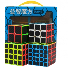 Z-CUBE MAGIC CUBE 4 SETS with Carbon Stickers