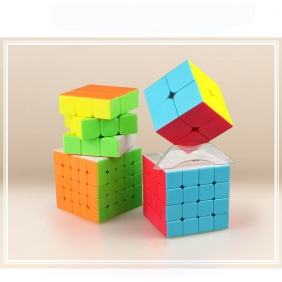 QiYi Stickerless Rubiks Cube Set of 4