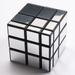 Rubik's Mirror Block Cube black with silver stickers