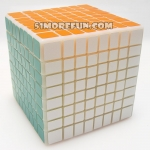 Shengshou Cubic 8x8x8 with primary color