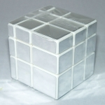 Ghosthand Mirror Block white with silver stickers