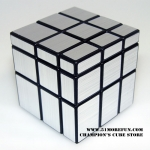 ShengShou Mirror Cube black with silver stickers