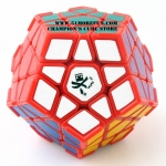 DaYan Megaminx I red with corner ridges
