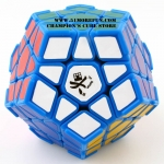 DaYan Megaminx I light blue with corner ridges