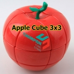 YJ red Apple Cube 3x3 in a moneybox