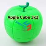 YJ green Apple Cube 3x3 in a moneybox