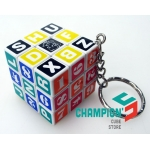 3cm mini cube with a keychain
