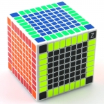 Shengshou 9x9 white with HBB Z-stickers