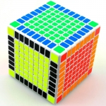 Shengshou 9x9 white with ZBB Z-stickers