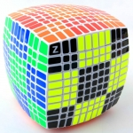 11x11 Cube white with HBB Z-stickers