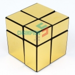 mir-two 2x2x2 mirror cube with golden stickers