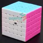 MoYu 6x6x6 stickerless pink