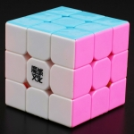 MoYu 3x3x3 Hualong pink stickerless
