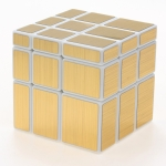 ShengShou Mirror Cube white with golden stickers