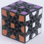 Z-Cube Gear 3x3x3 V1 black with carbon-fibre stickers