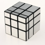 YuXin Mirror Cube black with silver wire-drawing stickers