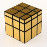 YuXin Mirror Cube black with golden wire-drawing stickers