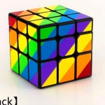 YJ Unequal 3x3 rainbow cube