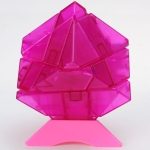 Ninja 3x3 Ghost Cube transparent pink