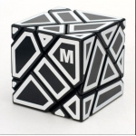 Ninja 3x3 Ghost Cube black with M stickers