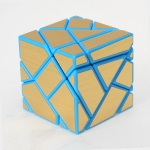 Ninja 3x3 Ghost Cube Blue with Golden stickers