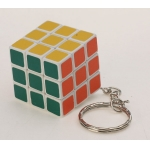 3cm keychain cube with matt stickers