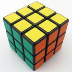 Shengshou 3x3 black with frosted stickers
