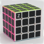Z-Cube 4x4x4 with black carbon-fibre stickers