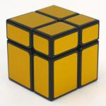 HelloCube Mirror Block 2x2 with golden stickers