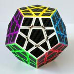 Z-Cube Megaminx Cube with Carbon fibre stickers