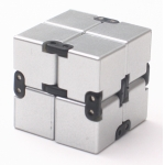 Infinity cube 4x4x4cm fidget toy with Silver Metallic