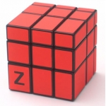 Z-Cube 3x3x3 Mirror cube with cloth sticker Red
