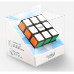 Gans Rubiks 3x3x3 cube black with plastic sticker